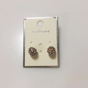 Jewelry - iridescent crystal stud earrings